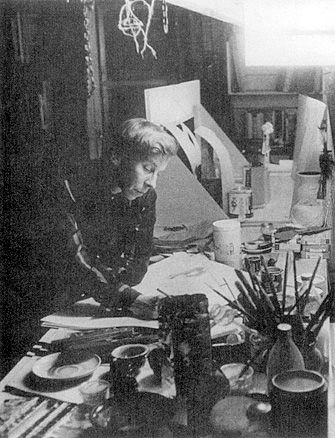 Tove Jansson in her studio. Love her.