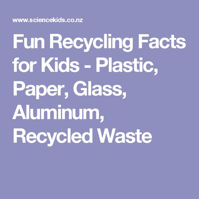 Fun Recycling Facts for Kids - Plastic, Paper, Glass, Aluminum, Recycled Waste #recyclingfacts