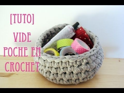 https://www.youtube.com/watch?v=or6u6iFtB0Q Tuto d'un panier en crochet