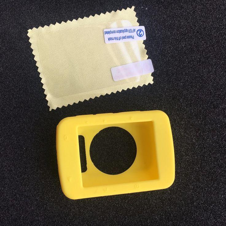 (가민 엣지 520) 야외 사이클링 컴퓨터 실리콘 고무 보호 케이스 + LCD 화면 필름 보호 가민 엣지 520