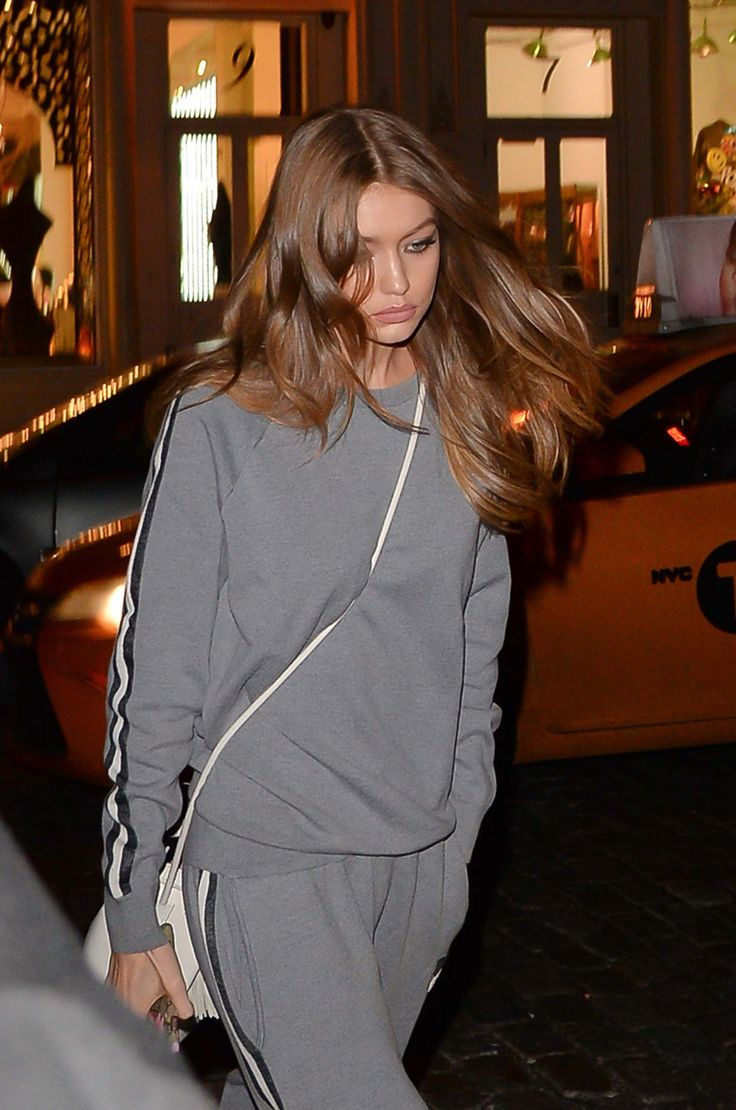 Gigi Hadid Steps Out in a Fresh New Shade of Brunette