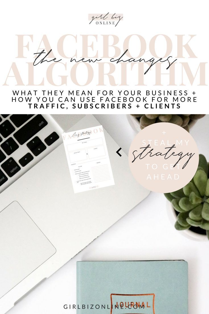 FACEBOOK ALGORITHM 2018: Steal my new Game plan - all of the changes I'm making to OVERHAUL my Facebook reach - that I think you should make too. Plus free planner pages to turn your blog posts into video content!