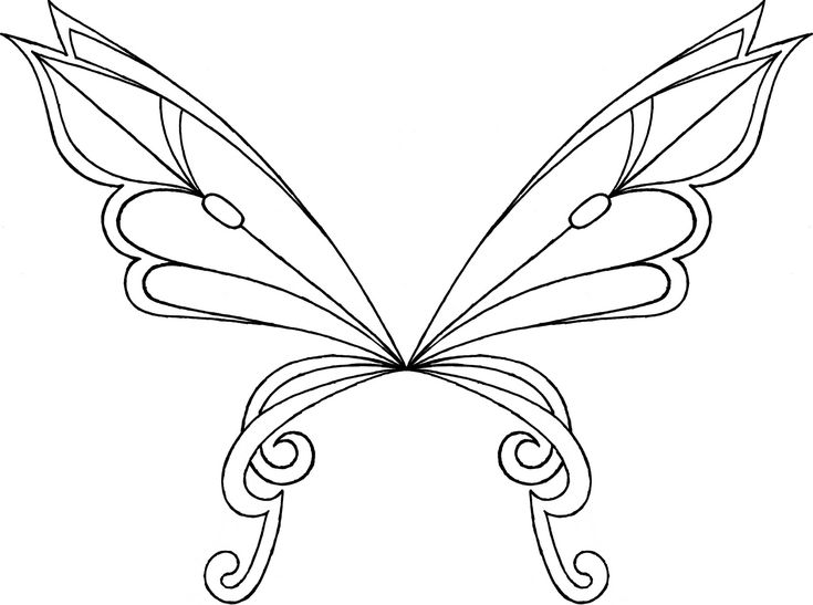 fairy wings coloring pages - fairy wings to colour layla flora musa tecna sophix