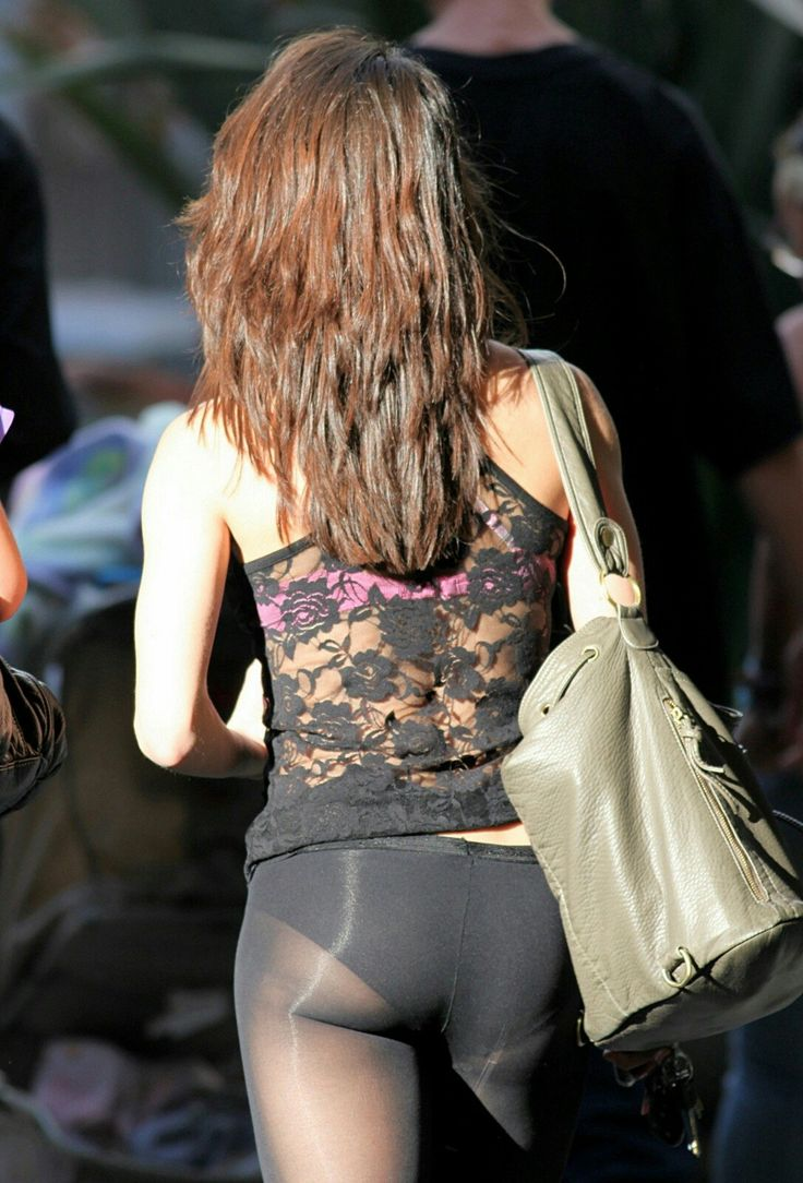 See Thru Racer Back Lace Top U0026 Black STW Pantyhose As Pants | Pantyhose As Pants | Pinterest