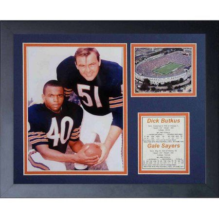 Legends Never Die Dick Butkus and Gale Sayers Framed Photo Collage, 11 inch x 14 inch