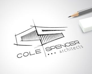 Logo Design   Cole Spencer Architects #logo #branding #uniqueartem