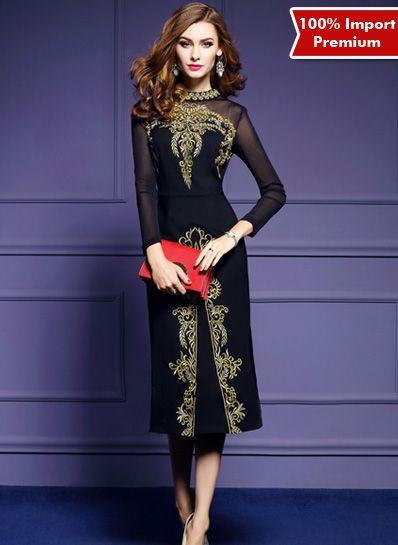 Bodycon / Party Dress Import Premium 610PR  | shopasista.com | Distributor baju import | distributor baju korea | grosir baju korea | grosir baju import | supplier baju korea tangan pertama | importir baju korea