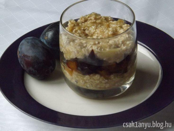 Nagy sikere van a fogyókúra, illetve tiszta étkezés szempontjából diétás receptjeimnek. Ezen felbuzdulva mutatom meg ezt a zabpehelytálat. A múltkori zabpelyhes finomság (recept itt: http://csak1anyu.blog.hu/2015/09/11/gyumolcsos_zabpehelytal ) tovább egyszerűsített, kalória szempontjából is lájtosabb változata.   1...