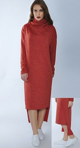 Платье из уютного трикотажа длинное воротник хомут, по длине платье ассиметричное: спинка длиннее полочки.   #платьерайс #блузкарайс #райсшоп #лучшаяцена #стильныймодели #настиле #райсстиль #стильрайс #скидки #акция50% #российскийпроизводитель #8марта #подарокдлясебя #порадуйсебя #выборпокупателей #Россия #модаистиль