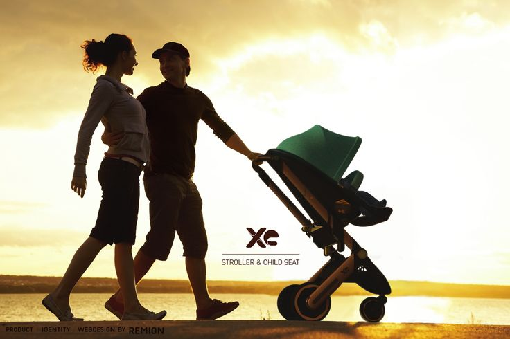 XE Stroller and Child Seat! Sundown, beach, love, parents, Industrial Design by REMION, Budapest