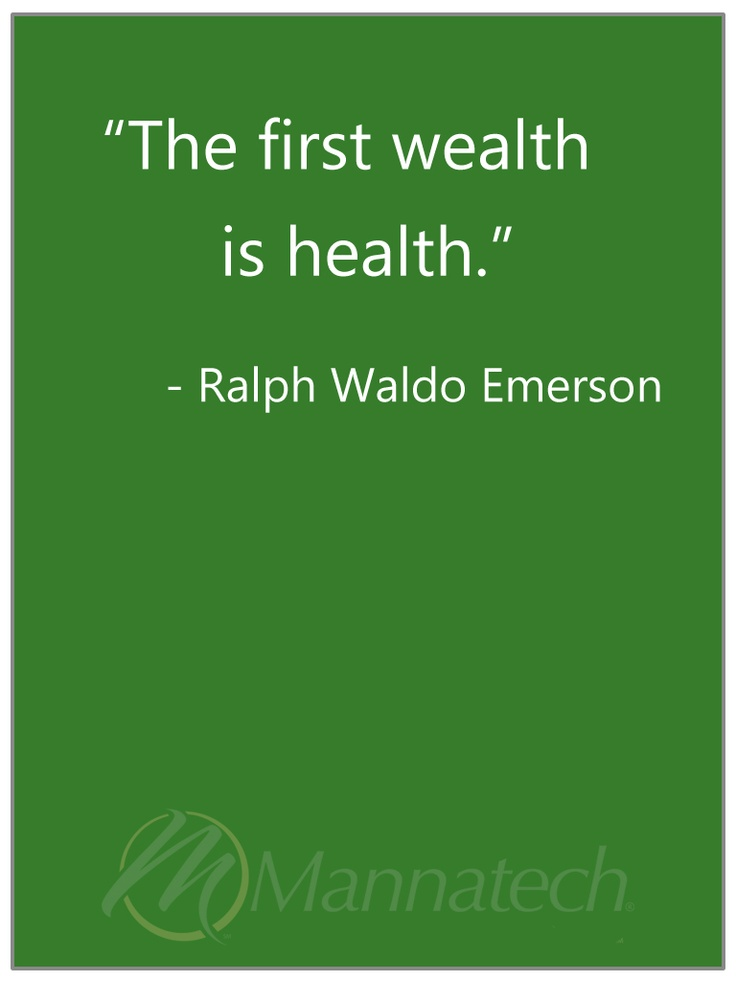 Indeed! Health first, & a wealth of the body, a wealth of happiness, will for sure follow.