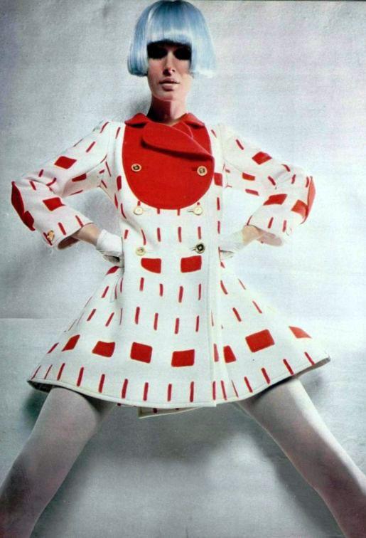 Courrèges mini coat 1960s