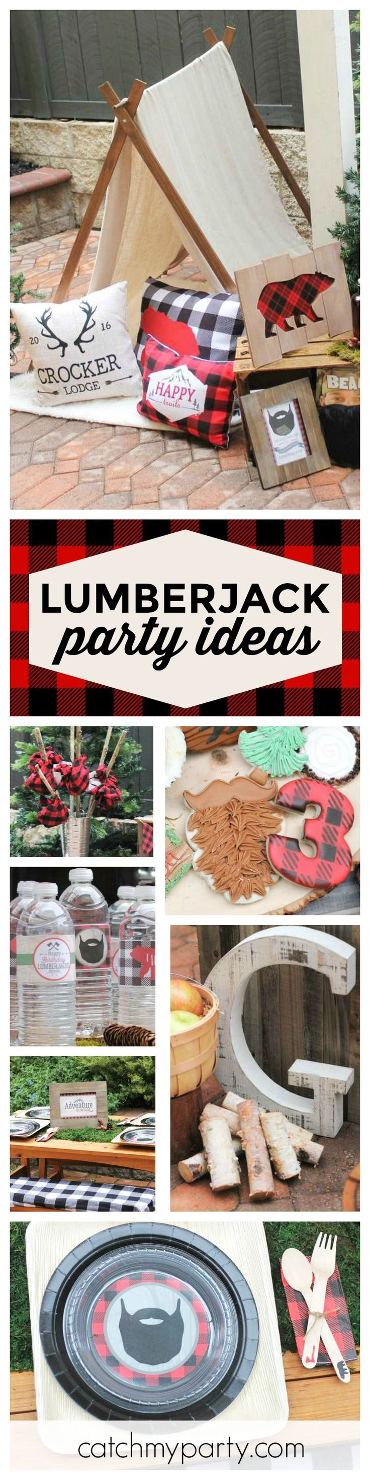 Check out this awesome Lumberjack Birthday party! The cookies are so much fun!! See more party ideas and share yours at CatchMyParty.com