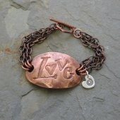Copper Love Bracelet  Island Girl Expressions  #thecraftstar