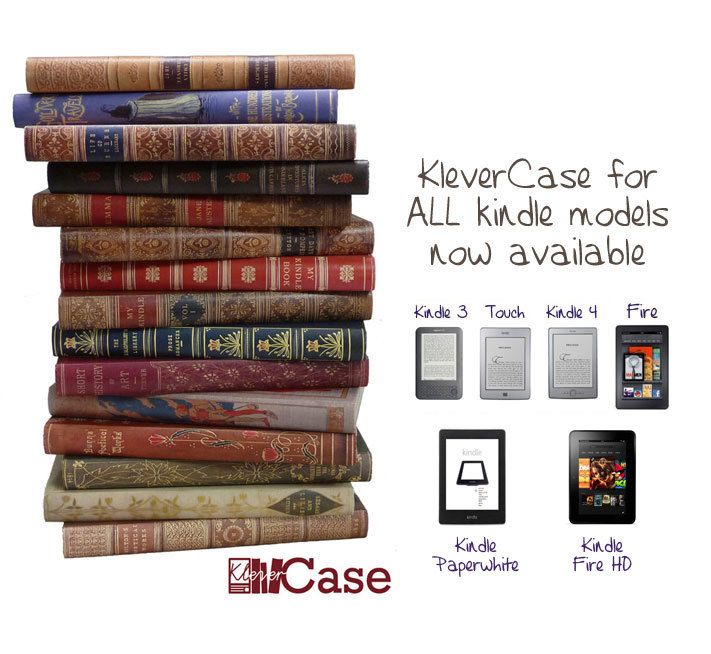Kindle Cover, KleverCase for Kindle Touch, 3 (keyboard), Kindle 4, Fire (Non-HD), Fire HD 7 & Paperwhite - Hand made Kindle cases. £24.99, via Etsy.