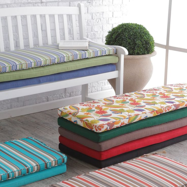 Coral Coast Classic 55 x 18 in. Outdoor Porch Swing & Bench Cushions - Keep your bench or porch swing looking its best with an updated Coral Coast Classic 55 x 18 in. Outdoor Cushion for Porch Swings and Benches . Two...