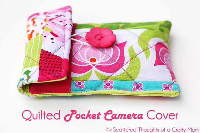 Quilted Pocket Camera Cover TutorialCovers Tutorials, Cameras Cases, Basic Sewing, Cameras Covers, Sewing Pattern, Quilt Pocket, Pocket Cameras, Quilt Cameras, Sewing Tutorials