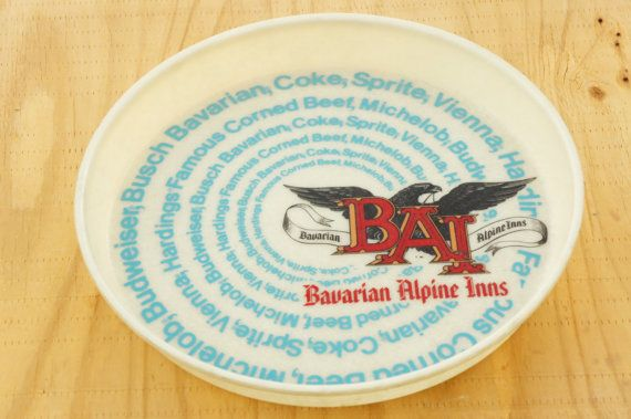 Vintage 70s-80s Bavarian Alpine Inns Beer Tray By Camtray Huntington Beach California/ Retro/Collectible