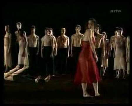 Le Sacre Du Printemps (The Rite of Spring), choregraphed by the late great Pina Bausch, on a stage covered in real earth.  Warning: this is sorta dark and features artistic boobies