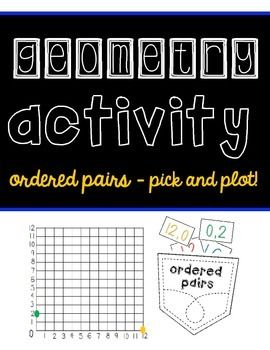MATH INTERACTIVE NOTEBOOK ACTIVITIES [GROWING PACK!] - pick and plot activity included to practice ordered pairs