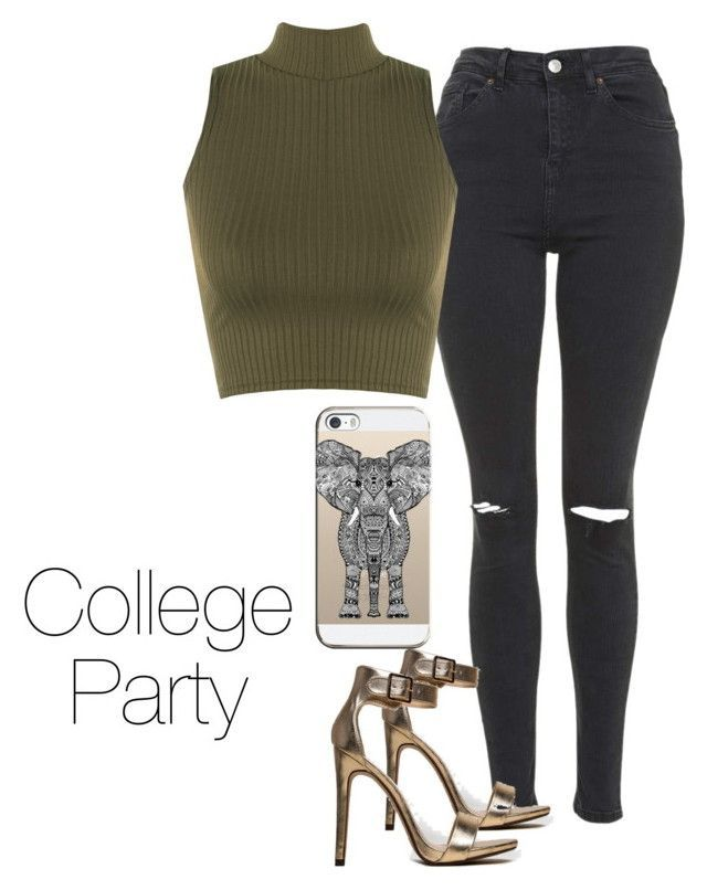 """""""College party"""" by itstiaraa ❤ liked on Polyvore featuring Topshop, WearAll, Delicious and Casetify"""