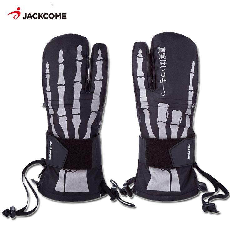 JC Winter Sports Ski Gloves Men Women Waterproof Skiing Snowboard Mitten Windproof Leather Warm Snowboarding Snowmobile Gloves #Affiliate