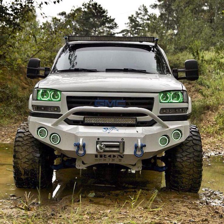 Mudder Lifted GMC Sierra truck
