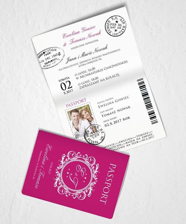 #invitation#wedding#paszport#lotnisko#weddingcard#white#pink#biel ♡www.liwmaart.pl