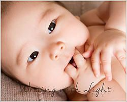 Pretty Little Charlotte. 4 month old baby photography. A brown eyed beauty!