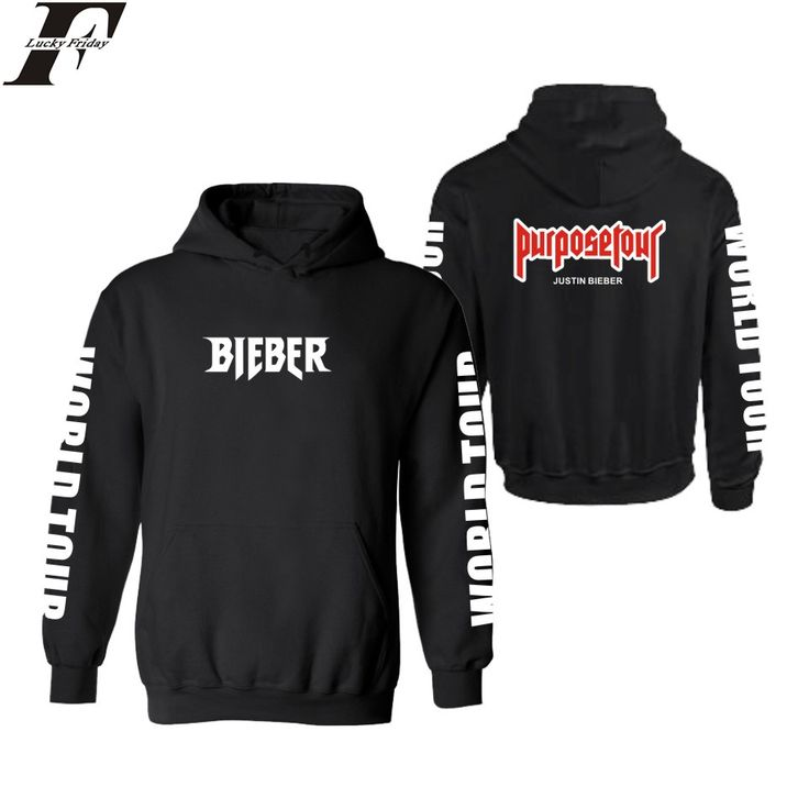 LUCKYFRIDAYF Justin Bieber Purpose Tour Hooded Hoodies And Sweatshirts For Couples Winter Fashion Black Hoodies Men 4XL Clothes #Affiliate