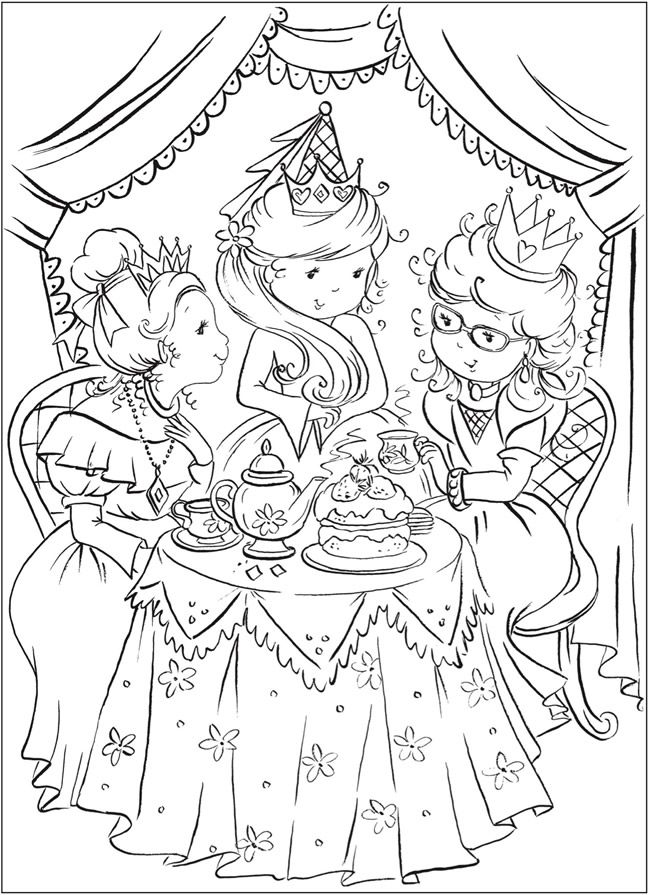 Welcome to dover publications pretty princess coloring book