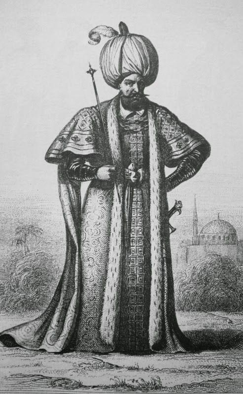 OĞUZ TOPOĞLU : günlük giyimiyle kanuni sultan süleyman gravürü