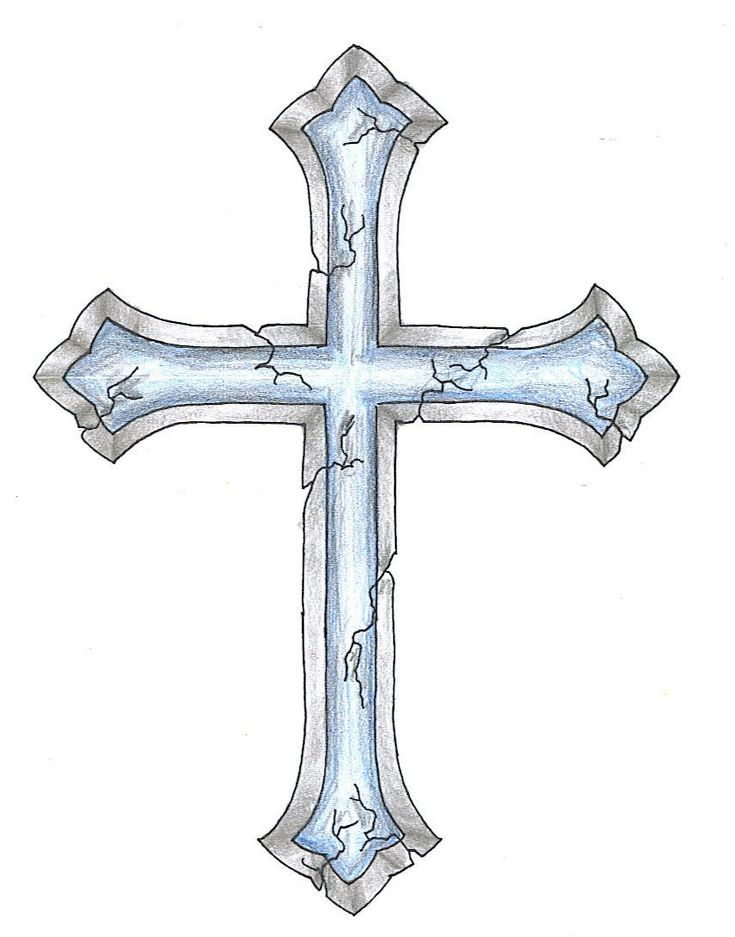 cracked cross tattoo design want a different cross with the same effect with a ribbon wrapping. Black Bedroom Furniture Sets. Home Design Ideas
