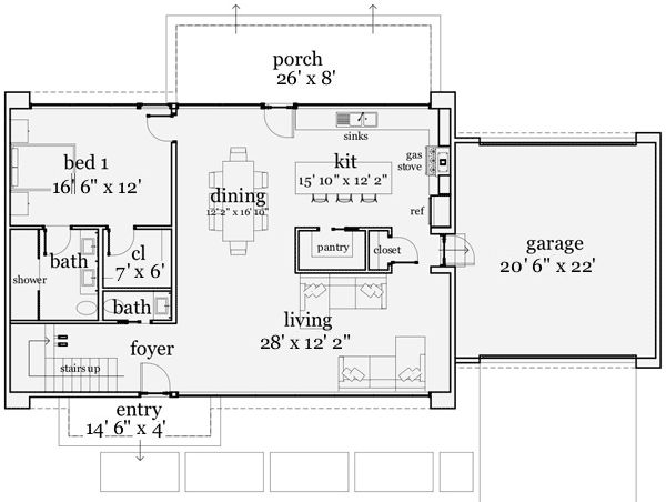 Contemporary mountain home floor plans home plan for Beach house plans on a budget