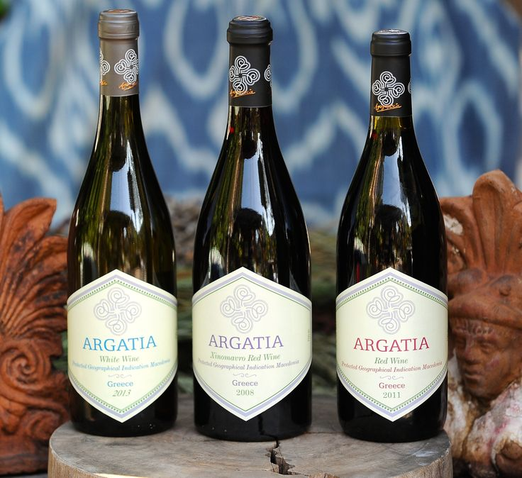 The wines of Argatia from Naoussa, in northern Greece: Xinomavro, Argatia Red and Argatia White.
