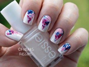 Chevron Splatter Nails