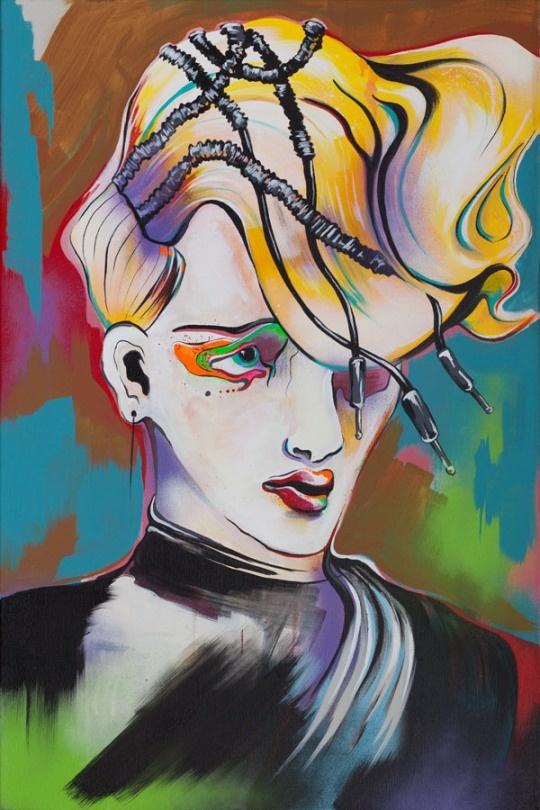 British Columbia artist Laurel Terlesky's surrealistic pop art