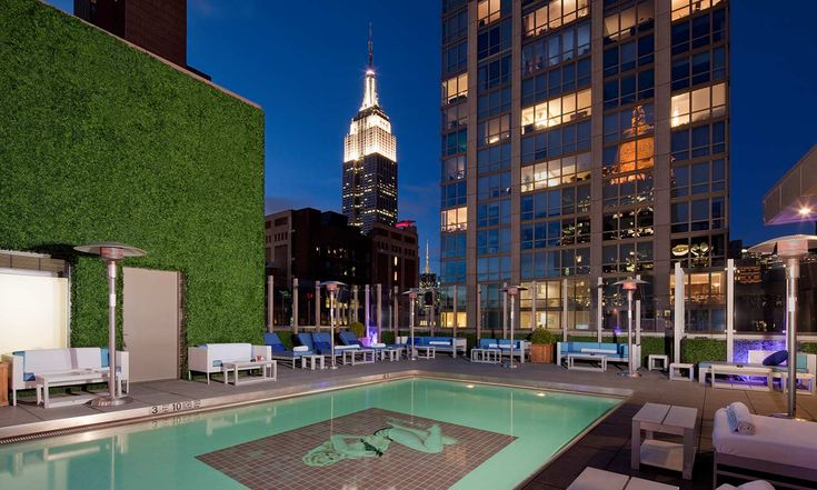12th street stroll: Rooftop bar has a pool.  Gansevoort Park Rooftop in New York, NY