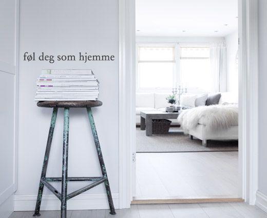 Hjemme veggorg - En flott invitasjon til din gjester.