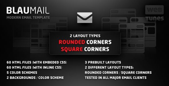 BlauMail has won the Email Templates Mini-Competition. Thank you all for your support.BlauMail is a modern email template with a nice modern look. With its compact structure and strong visual impact, BlauMail will help you deliver rich content to your users/clients. Send product updates, news, special offers and social events details. Highlight important content by using the call to action buttons or other visual elements.