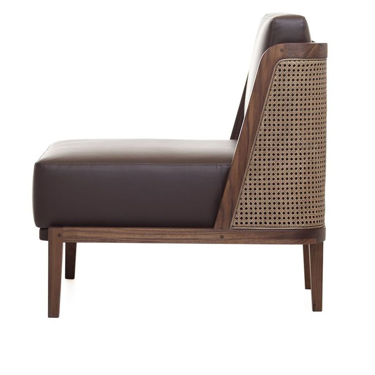 Throne Lounge Chair with Rattan - Walnut - ALL - SEATING