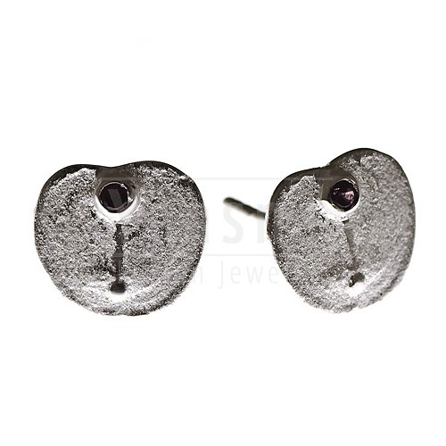 Purple Love Sterling Silver Stud