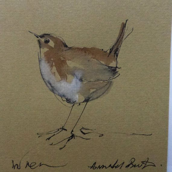 Original Watercolour and ink drawing of a by cherrytreehandmades, $15.00