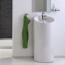 Halbsäulen design waschbecken Waschtisch Keramik Standwaschbecken 40129