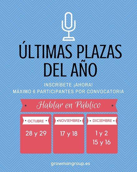 Curso de oratoria. Aprende a hablar en público con seguridad y naturalidad. Growmangroup.es #comunicacion #oratoria #comunicacionempresarial