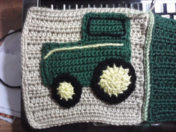 Square from a John Deere baby afghan Im making for my ...
