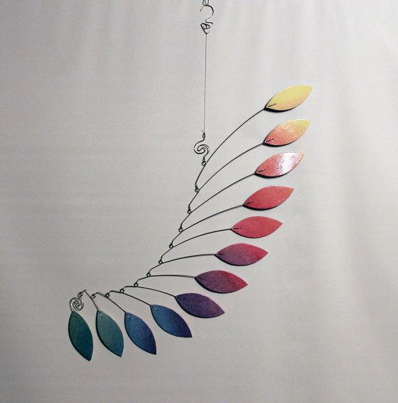 Designer Mobile Hanging Mobile Kinetic Art Mobile by skysetter
