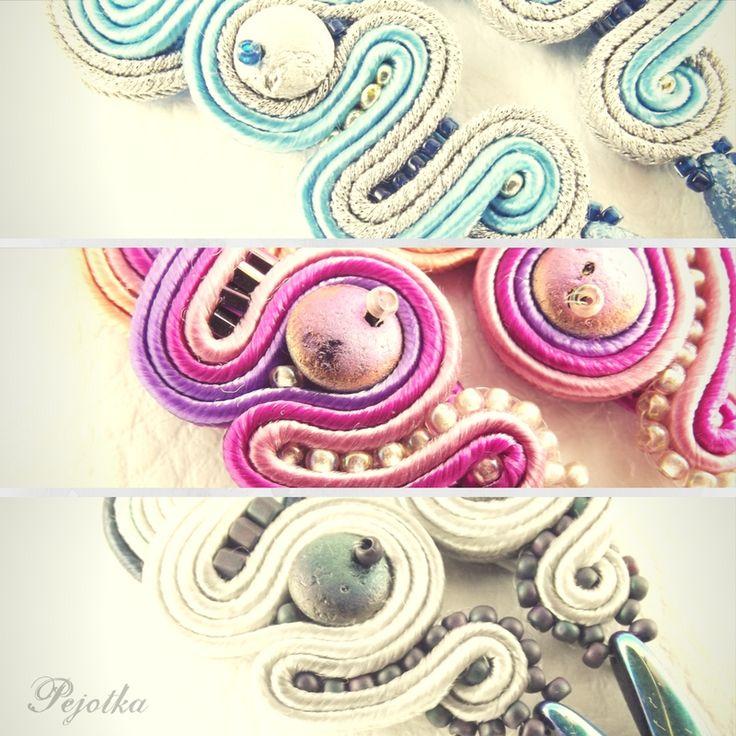 Pejotka - soutache handmade earrings