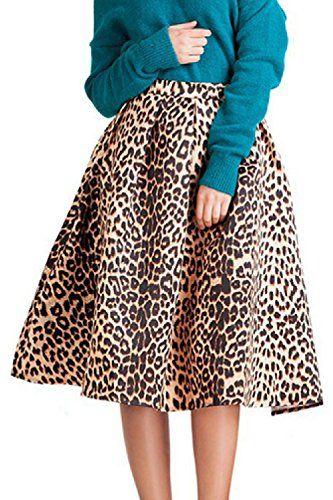 0a6879a7bd4f Les Femmes Des Années 1940 Taille Haute Ruched Tutu Jupe Léopard Leopard L