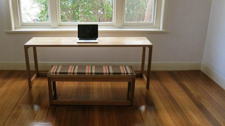 Zen Desk with Canvas Bench Seat - $1250  http://www.hutchinsonandcompany.com.au/item.htm?p=s&id=item012